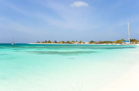 sunligh: Tropical beach at Los Roques archipelago