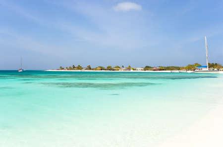 pellucid: Tropical beach at Los Roques archipelago