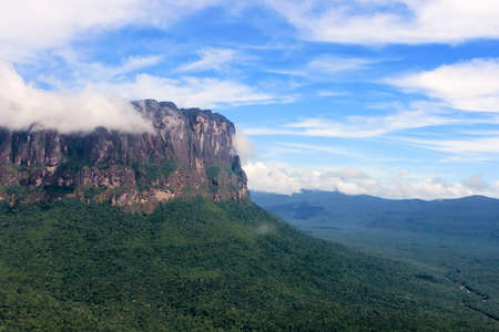 View of the Auyantepui from the plane, Venezuela