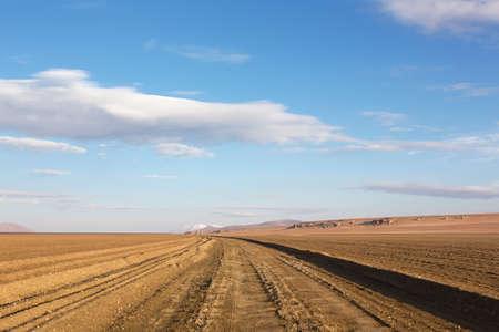 unpaved road: Unpaved road in Bolivian altiplano