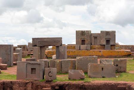 puma: Megalithic stone complex Puma Punku, Bolivia