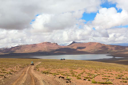 Lagoon Morejon in altiplano of the andes, Bolivia