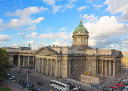 kazanskiy: SAINT PETERSBURG - AUGUST 12  Kazan Cathedral is a cathedral of the Russian Orthodox Church on the Nevsky Prospekt in St  Petersburg, Russia on August 12, 2013  The church dates from 1801 Editorial