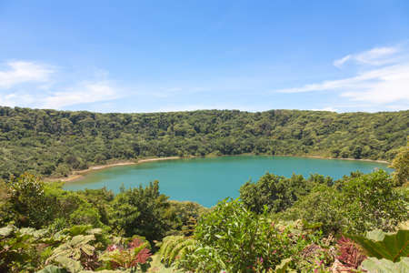 rica: Lake Botos in inactive crater within Poas Volcano National Park, Costa Rica