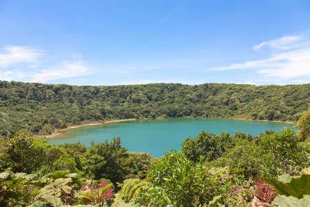 san jose: Lake Botos in inactive crater within Poas Volcano National Park, Costa Rica