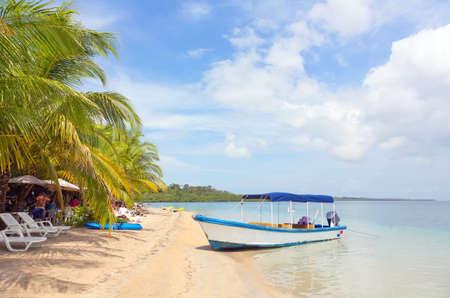 ヒトデ ビーチ、列島ボカスデルトロ、パナマでのボートします。