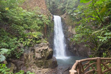 La Paz Waterfall amongst the rainforest, Costa Rica