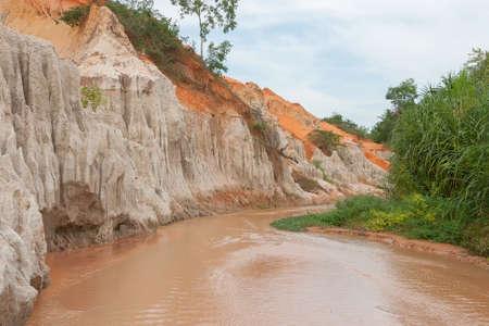 ne: Red river in the Ham Tien canyon, Mui Ne, Vietnam Stock Photo