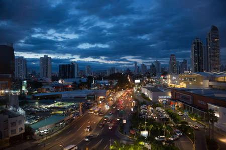 PANAMA CITY, PANAMA - SEPTEMBER 18, 2018: Panoramic view of the city skyline at Panama City, Panama
