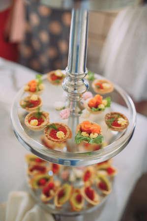 pintxos, tapas, spanish canapes party finger food Reklamní fotografie
