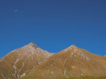 Landscape picture. Caucasian mountains against the sky 版權商用圖片