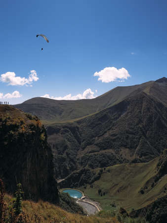 Landscape picture. Caucasian mountains against the sky Stock Photo