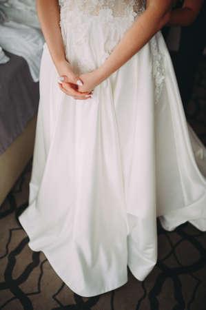 Wedding Dress. accessories at the brides preparations. 版權商用圖片