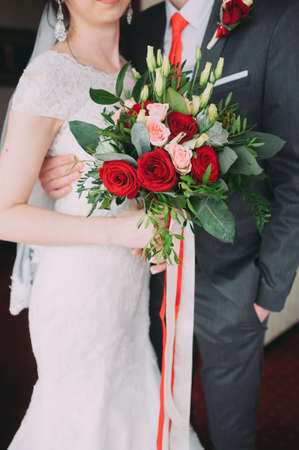 bride and groom . close-up. beautiful wedding ceremony