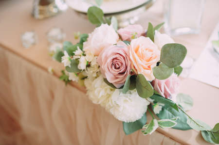 Wedding decor. Bouquet. flowers accessories decorative plants Stock Photo