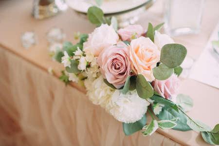 Wedding decor. Bouquet. flowers accessories decorative plants Stock Photo
