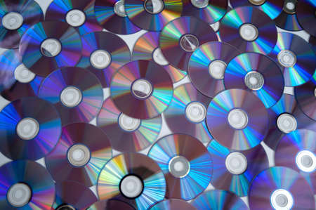 Bunch of cd discs on a white background Archivio Fotografico - 123047435