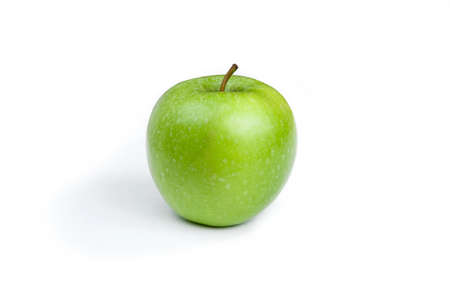 Green apple with isolated on a white background Stock Photo