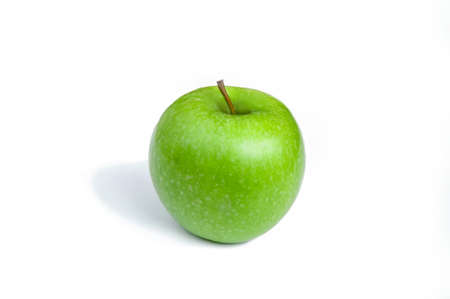 Green apple with isolated on a white background Zdjęcie Seryjne