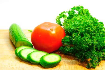 Tomatoes and cucumbers  Zdjęcie Seryjne
