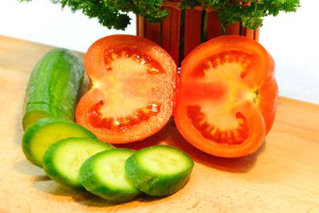 Tomato in a cut