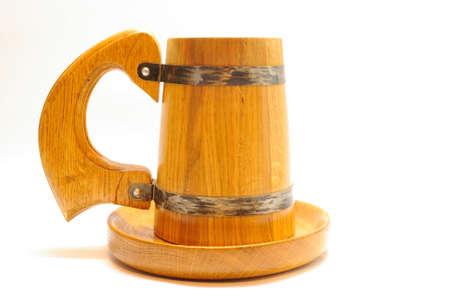 Oak beer mug