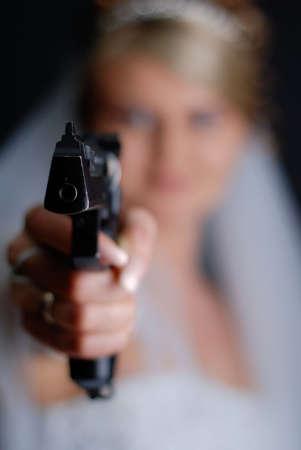 A bride with gun photo