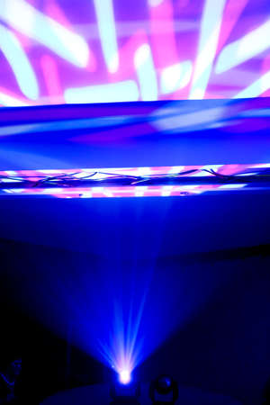 image of blue pink and white stage lights photo