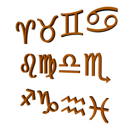 character traits: Zodiac Sign  Stock Photo