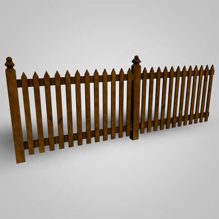 Fence isolated on white background photo