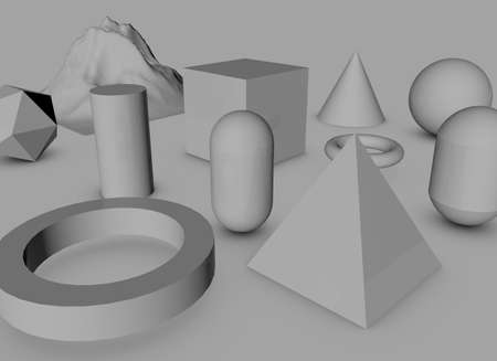 3D objects photo
