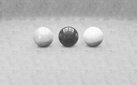 home addition: Spheres abstract