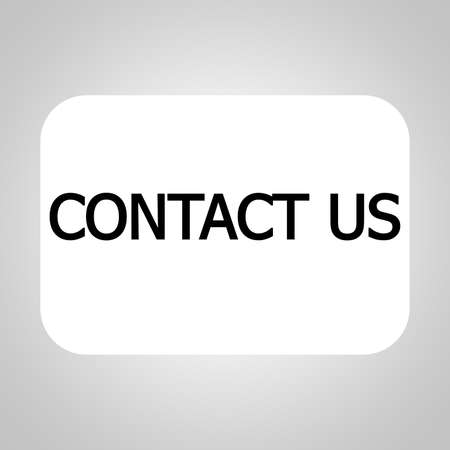 3d contact us: Contact us on white background Stock Photo
