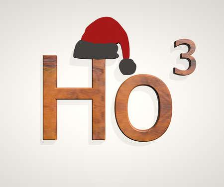 ho: Ho ho ho text isolated on white background