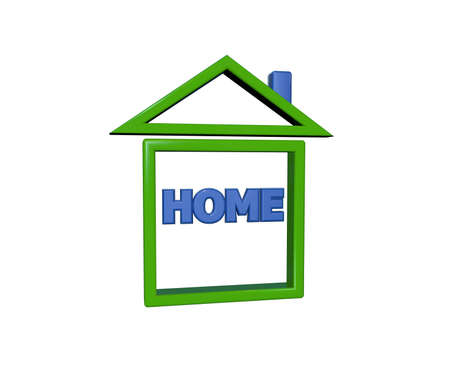 Home icon isolated on white background photo