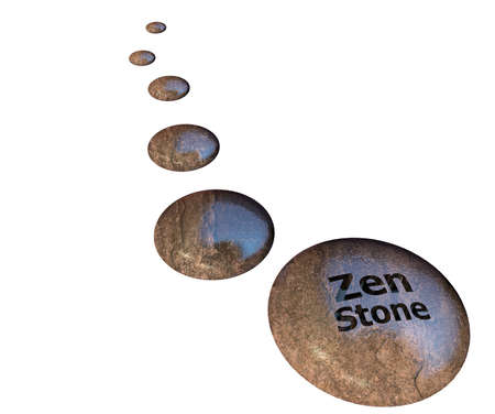 Zen stone isolated on white background photo