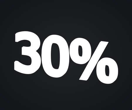 30 percent on black photo