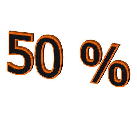 50 percent on black  photo