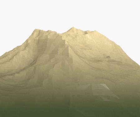 Cartoon mountain low poly photo