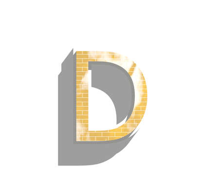 deisgn: Letter D isolated on white background