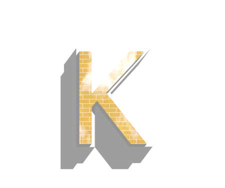 deisgn: Letter K isolated on white background