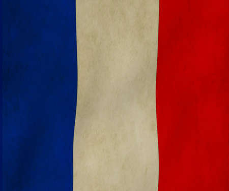 France paper flag background 3D image photo