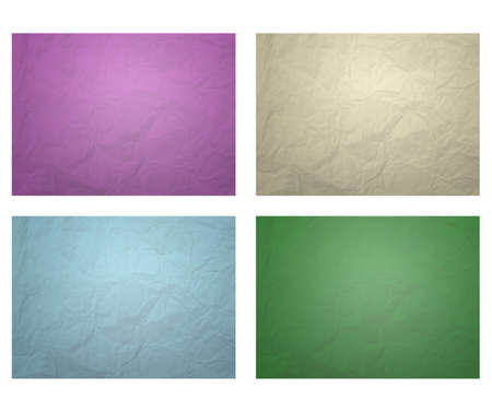 Square paper isolated on white background photo