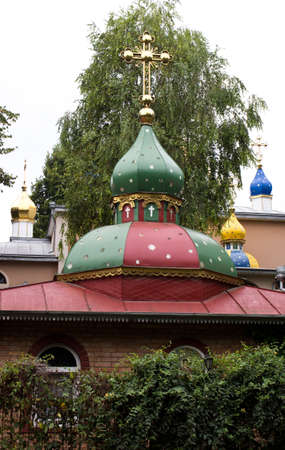 domes: Domes of monastery.A summer day