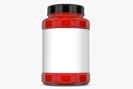 supplement: Supplement bottle on white background.3D Rendering