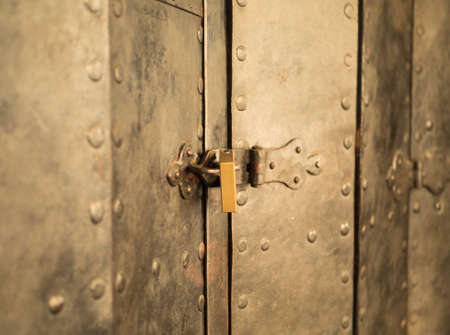 texture of a metal canvas of an old forged door.