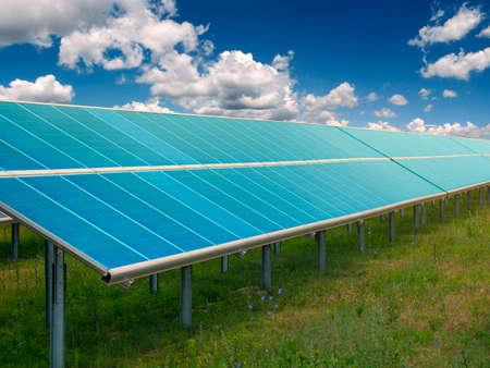 Solar power plant. Egology and green energy concept.