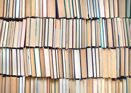 Stack of an old books. Background. Wisdom and knowledge concept Archivio Fotografico