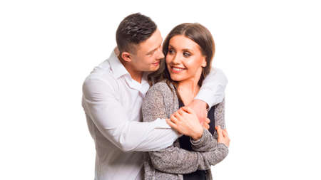 Close up millennial couple in love. Portrait of a couple planning a happy future. Holding couple