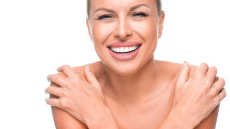 Natural beauty portrait. Beautiful spa woman. Perfect fresh skin.